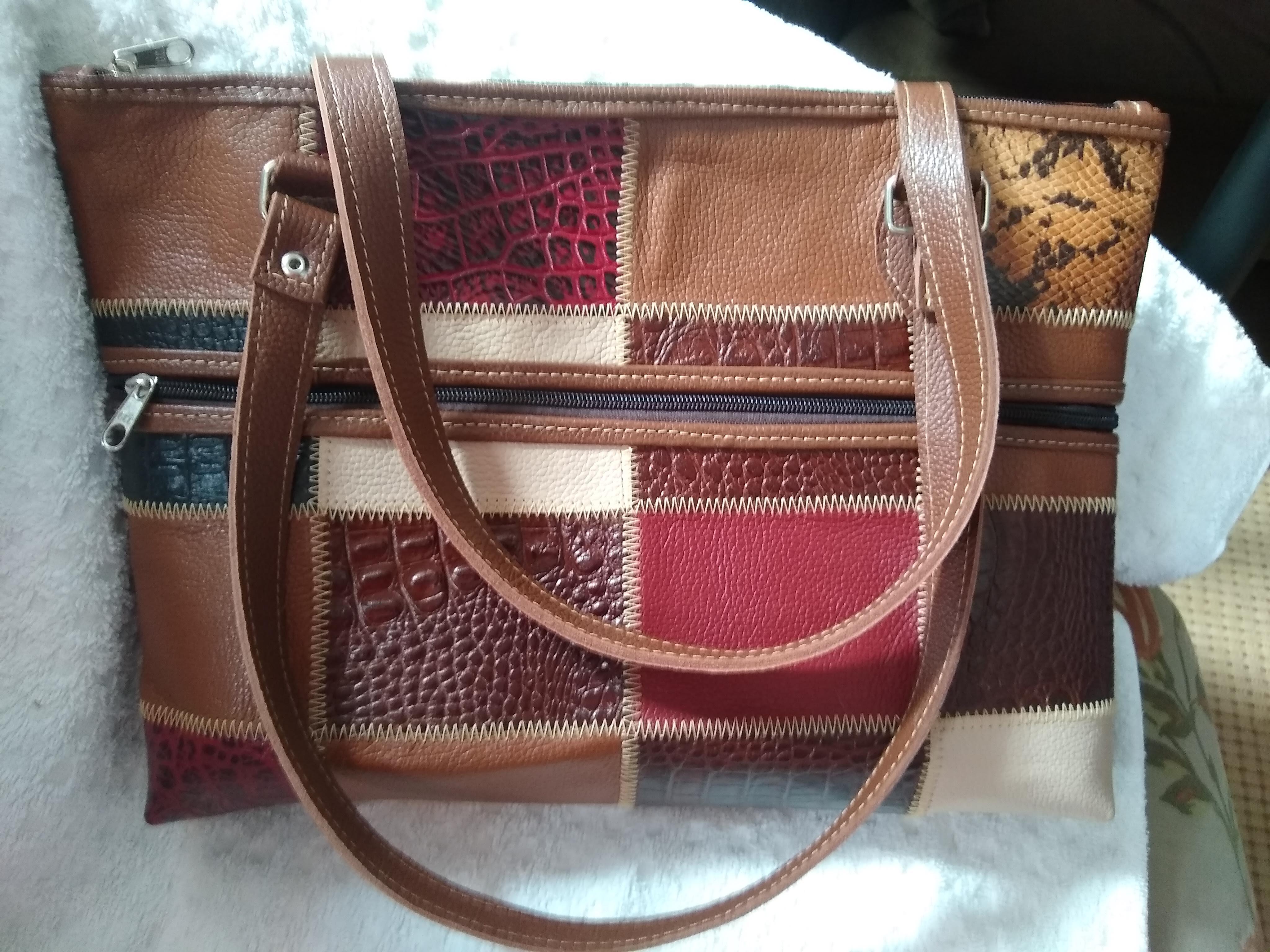 bolsa de couro legítimo bag