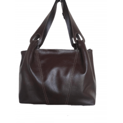 Bolsa de couro legítimo macio grande marrom