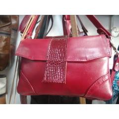 Bolsa de couro legítimo macio com duas alças