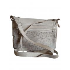 Bolsa de couro transversal croco